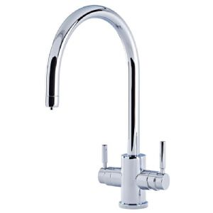 1912 Perrin & Rowe Phoenix 3-in-1 Instant Hot Water Kitchen Mixer Tap With C-Spout